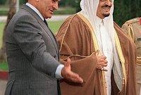 الملك فهد والرئيس المصري الأسبق حسني مبارك