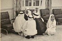 بعض الوفود والزوار الذين استقبلهم القصر