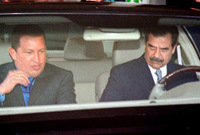 مع هوجو تشافيز رئيس فنزويلا