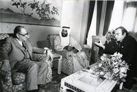 الشيخ زايد والرئيس الفلسطيني الراحل ياسر عرفات
