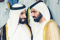 الشيخ زايد ومحمد بن راشد آل مكتوم حاكم دبي