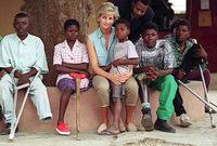 اشتهرت الأميرة ديانا بشخصية طيبة بسبب ناشطاتها المتعلقة بحقوق الإنسان ولقبت بأميرة القلوب