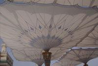 هي مظلة ضخمة أشرف على تصنيعها مهندسون متخصصون في ألمانيا وتزن قاعدتها 16 طنا، في حين يزن باقي أجزاء المظلة 600 طن