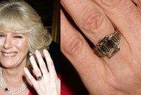 يعتبر خاتم الخطبة الذي حصلت عليه كاميلا خاتم خطبة ملكي تاريخي مصنوع من البلاتين، ومرصع بأحجار وكان ملك جدة الأمير تشارلز