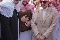 منهم ابنه الملياردير الوليد ابن طلال