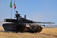 بجانب اعتمادها على دبابات روسية الصنع ودبابات إيرانية الصنع في تسليح قواتها البرية