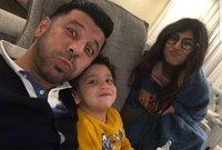 إياد نصار وزوجته المصرية شيماء وابنهما