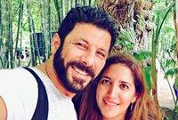 إياد نصار وزوجته شيماء