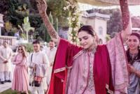 """أقيمت في اليوم الأول مراسم الزواج على طريقة """"كانديجا"""" وهي مراسم الزواج التقلييدية للمجتمعات الهندية الجنوبية التي تنتمي لها العروس"""