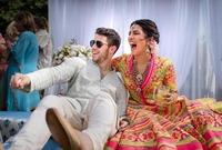 أقام النجمان حفلين للزفاف، الأول على الطريقة المسيحية والتقاليد الأمريكية، بينما الحفل الآخر هندوسي على الطريقة الهندية التقليدية.