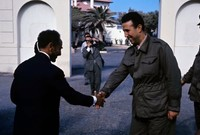 شارك بن بلة في العديد من التنظيمات ضد المستعمر، وفي إبريل 1949 تزعم الهجوم على مركز بريد وهران من أجل الحصول على المال لشراء الأسلحة للثورة
